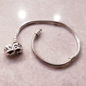 Authentic Pandora Clip Clasp Bracelet- 7.5